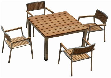 Modern Patio Chairs Metal And Wood Garden Chair Garden Bevrani