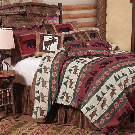 Summit Trail Moose Bear Bed Set King Moose Bedding Set