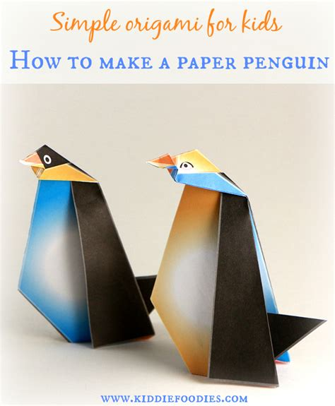 How To Make A Paper Penguin - simple origami for how to make a paper penguin