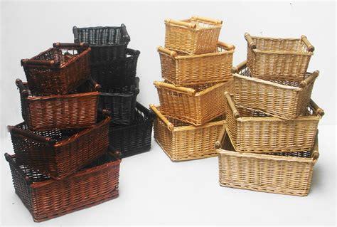 kitchen baskets kitchen log wicker storage basket with handles empty her basket ebay