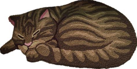 cat area rug brown sleeping cat shaped bedroom area rug tabby cat