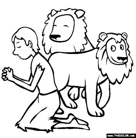 daniel in the lions den coloring page for kids vbs