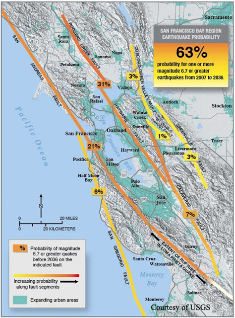 hayward fault map the hayward fault hazards