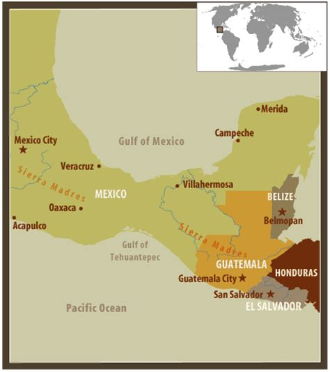 map of southern us and mexico frontline world guatemala mexico coffee country map