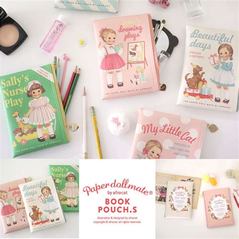 Doll Mate Cosmetic Pouch afrocat paper doll mate book pouch s purse wallet clutch
