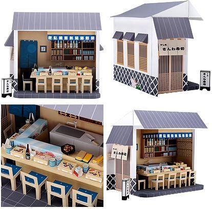 Sushi Papercraft - sushi bar papercraft papercraft paradise papercrafts