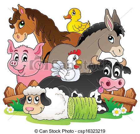 Farm Home Plans by Vector Clip Art Of Farm Animals Topic Image 2 Eps10