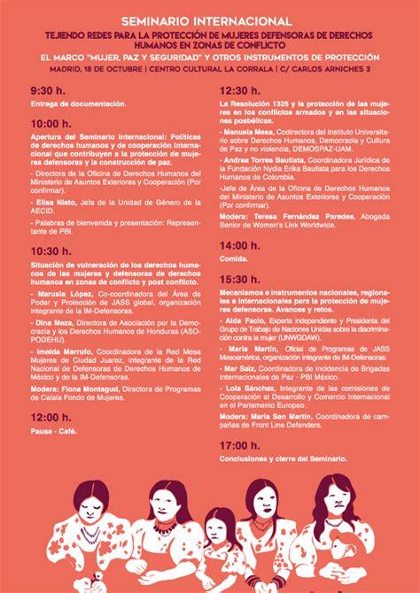 derechos humanos en zonas de conflicto tejiendo redes para la protecci 243 n de mujeres defensoras de