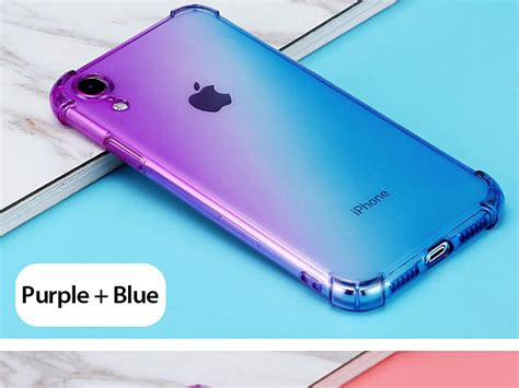 iphone xr  gradient shockproof tpu soft case