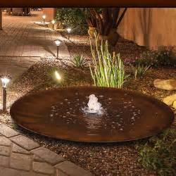 wasserschale garten cortenstahlbrunnen wasserschale aqua bowl 120 m2