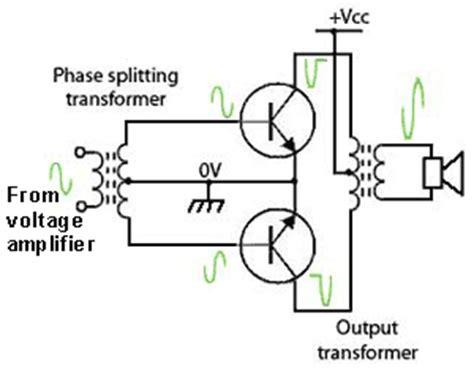 transistor audio driver transformer push pull lifier drivers