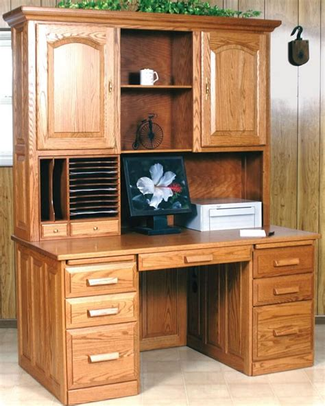 36 computer desk with hutch computer flat top desk with hutch oak