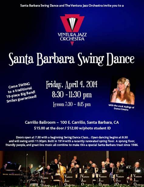 swing dance santa barbara the ventura jazz orchestra calendar ventura jazz orchestra
