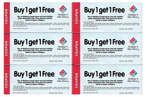 dominos web coupon