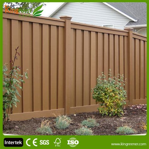 Plastic Garden Fencing Outdoor Wpc Security Fence Wood Plastic Composite