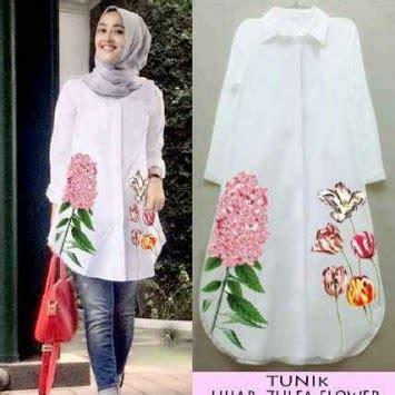 Baju Atasan Wanita 39 baju muslim atasan wanita model tunik kemeja terbaru