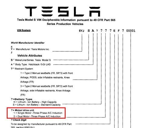 Tesla Model S Production Numbers How To Decode Your Tesla Model S Vin
