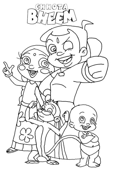 chota bheem coloring pages images chota bheem coloring pages to print sketch