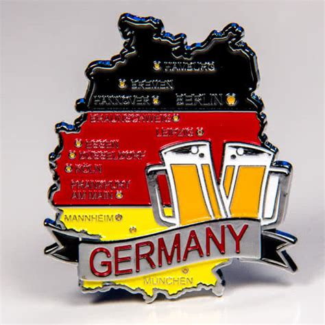Souvenir Germany Magnet Kulkas Germany metal fridge magnet germany map of germany chrome plating and enamel