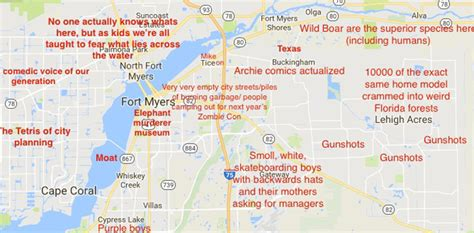 map of florida fort myers judgmental map of fort myers florida