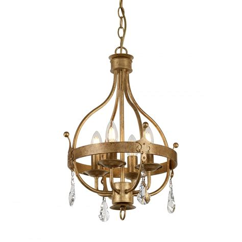 Traditional Pendant Lights Traditional 4 Light Chandelier In Gold Patina Finish W Drops