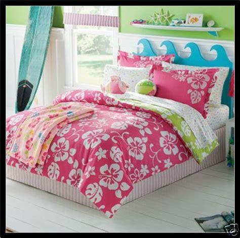 girls headboard ideas pink catch a wave comforter set 7 pc beach hawaiian floral