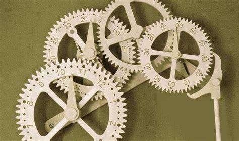 wood gear clock dxf blueprints  diy