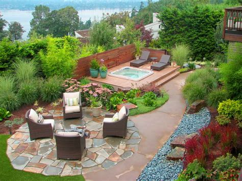 Backyard Outside Southwestern Landscape Designs Photo Above Is Section