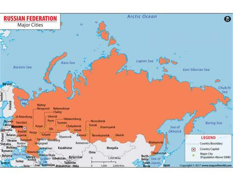 russia map with major cities buy map of russia with cities