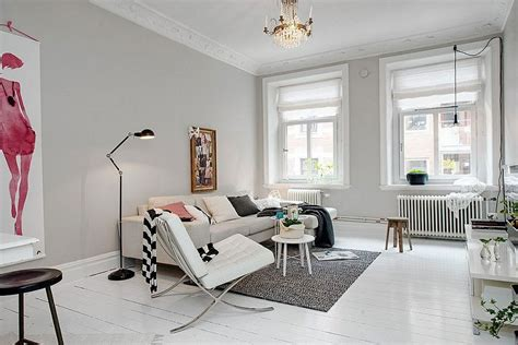 apartment color schemes embracing scandinavian simplicity cozy chic apartment in