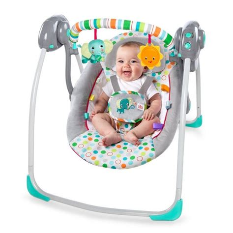 bright starts jungle swing bright starts itsy bitsy jungle portable swing best buy
