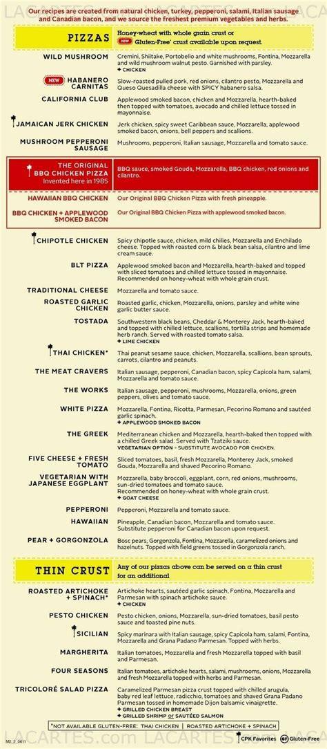 7 of 7 price lists menus california pizza kitchen 01