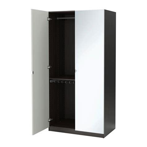 wardrobe with mirror ikea pax wardrobe black brown vikedal mirror glass 100x60x201