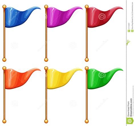 clipart bandiere colourful flags stock vector illustration of stick