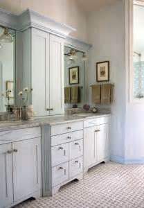 Bathroom Counter Storage Tower Vanities Cabinets And Marbles On