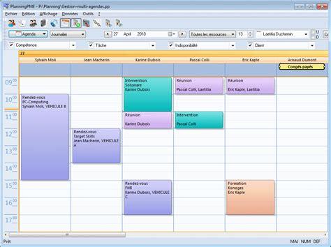 Calendrier Journalier Excel Choisir La Vue Agenda Dans Votre Outil De Planning Planningpme