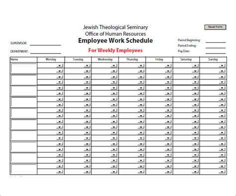 weekly work plan template bi weekly work schedule template project