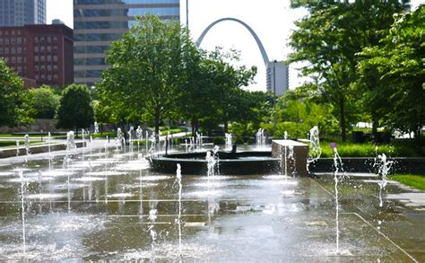 the sculptures of citygarden in st louis missouri