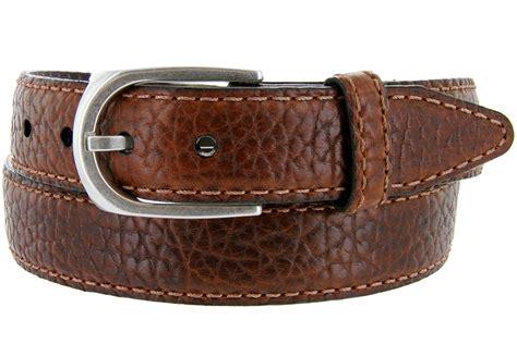 lejon belt pebble grained bison leather belt 1 3