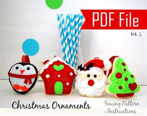 christmas pattern sewing 4 christmas ornaments sewing pattern a867 the pattern
