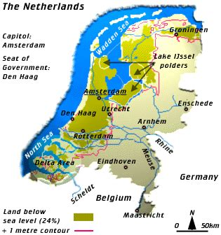 netherlands map below sea level the maeslant barrier or s fight with the
