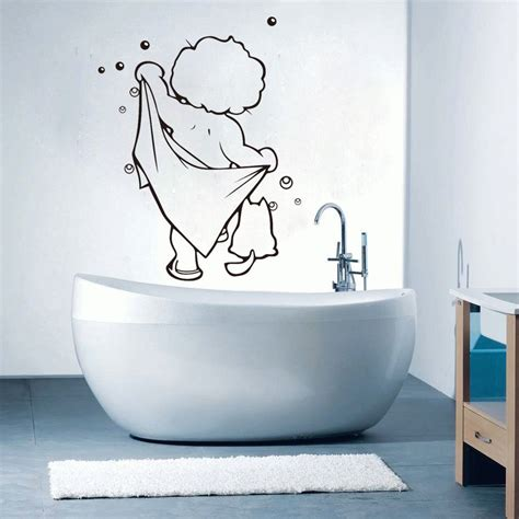 kids bathroom wall stickers funny shower time kids boys bathroom wall sticker vinyl art home decals new 2015 in