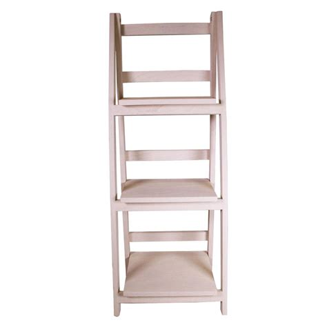 folding display shelves jia home 13 in x 36 in wood folding 3 tier ladder display shelf lh42841m the home depot
