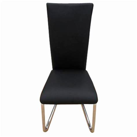 4 black artificial leather dining chairs vidaxl
