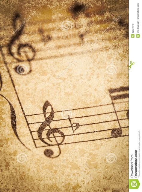imagenes vintage de notas musicales partitura do vintage foto de stock imagem de composi 231 227 o
