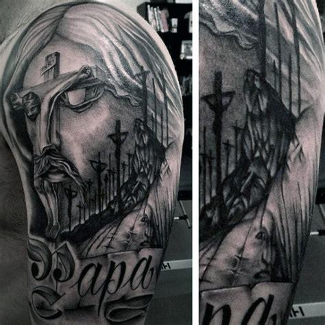 half sleeve tattoos for men religious 100 christian tattoos for manly spiritual designs