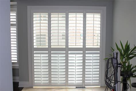 Shutter Blinds For Patio Doors by Patio Door Pc Shutters In Canada