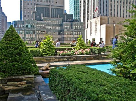the secret rooftop garden on top of the british empire building at rockefeller center