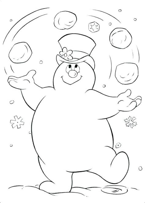 Frosty Coloring Pages by Frosty Coloring Page Snowman Free Printable Frosty The
