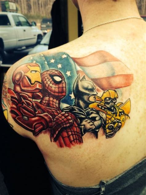 superhero tattoos designs ideas and meaning tattoos for you